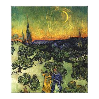"Van Gogh: ""promenade"" de la tarde Impresion De Lienzo"
