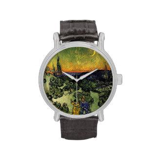 """Van Gogh: """"promenade"""" de la tarde Reloj"""