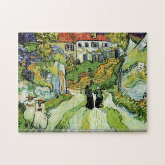 van Gogh-Pueblo Street y pasos en el rompecabezas