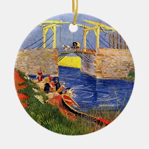 Van Gogh; Puente de Langlois en Arles Ornamento De Reyes Magos