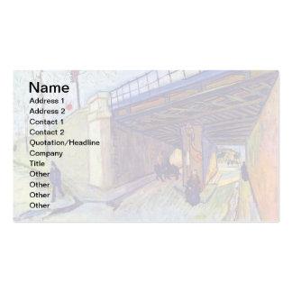 Van Gogh - puente ferroviario sobre la avenida Tarjetas De Visita
