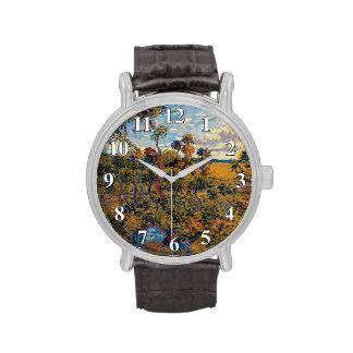 Van Gogh - puesta del sol en Montmajour Relojes