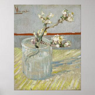 Van Gogh, puntilla del flor de la almendra Póster