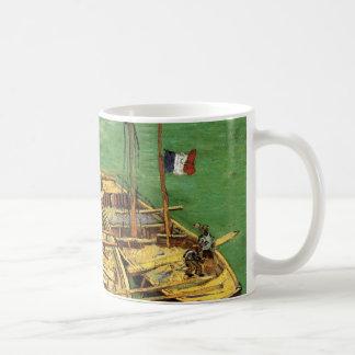 Van Gogh Quay with Men Unloading Sand Barges Coffee Mug