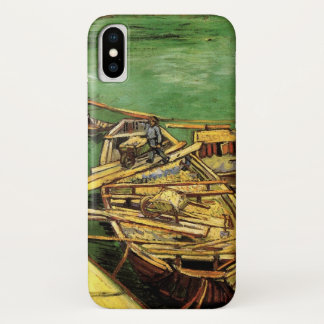 Van Gogh Quay with Men Unloading Sand Barges iPhone X Case