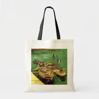 Van Gogh Quay with Men Unloading Sand Barges Tote Bag