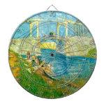 Van Gogh que pinta Langlois Brige en Arles Tablero De Dardos