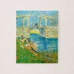 Van Gogh que pinta Langlois Brige en Arles Puzzles Con Fotos