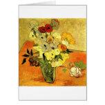 Van Gogh que pinta vides caprichosas de las flores
