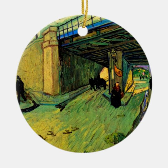 Van Gogh Railway Bridge, Avenue Montmajour, Arles Ceramic Ornament