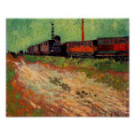 Van Gogh Railway Carriages (F466) Fine Art Poster