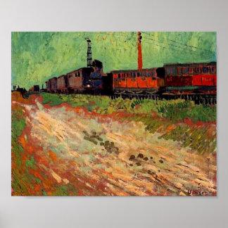 Van Gogh Railway Carriages (F466) Fine Art Print
