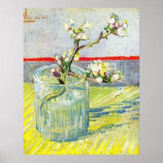 Van Gogh; Rama floreciente de la almendra en un vi Posters