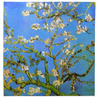 Van Gogh: Ramas de árbol florecientes de almendra Servilleta De Papel