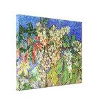 Van Gogh; Ramas florecientes de la castaña Impresiones En Lona Estiradas