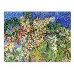 Van Gogh; Ramas florecientes de la castaña Postal