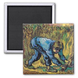 Van Gogh - Reaper With Sickle (After Millet) Fridge Magnet