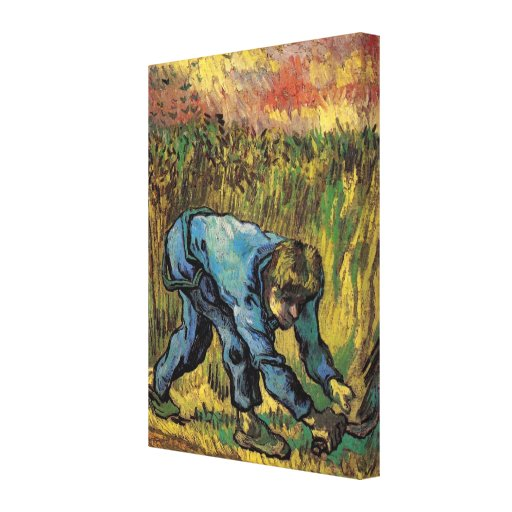 Van Gogh; Reaper with Sickle, Vintage Farmer Gallery Wrapped Canvas