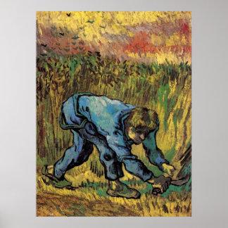 Van Gogh; Reaper with Sickle, Vintage Farmer Print