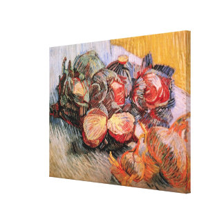 Van Gogh Red Cabbages Onions, Vintage Still Life Canvas Print