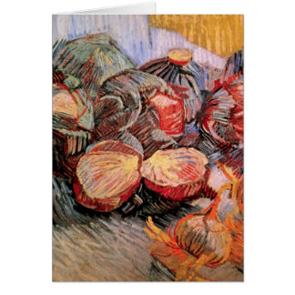 Van Gogh Red Cabbages Onions, Vintage Still Life Card