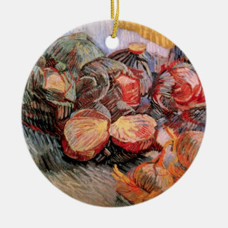 Van Gogh Red Cabbages Onions, Vintage Still Life Ceramic Ornament