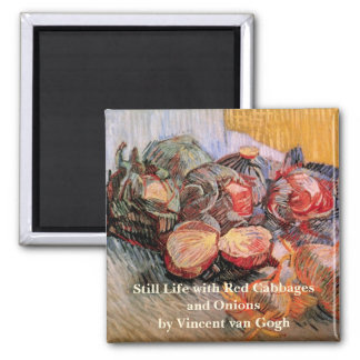 Van Gogh Red Cabbages Onions, Vintage Still Life Magnet