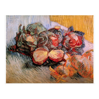 Van Gogh Red Cabbages Onions, Vintage Still Life Postcard