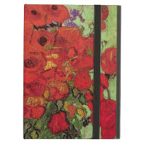 Van Gogh Red Poppies and Daisies, Fine Art Flowers iPad Air Case