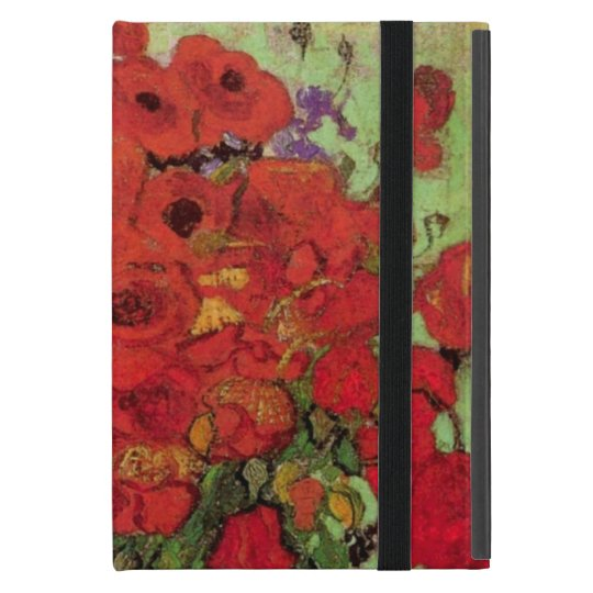 Van Gogh Red Poppies and Daisies, Fine Art Flowers iPad Mini Case