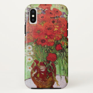Van Gogh Red Poppies and Daisies, Fine Art Flowers iPhone X Case