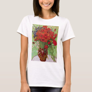 Van Gogh Red Poppies and Daisies, Fine Art Flowers T-Shirt