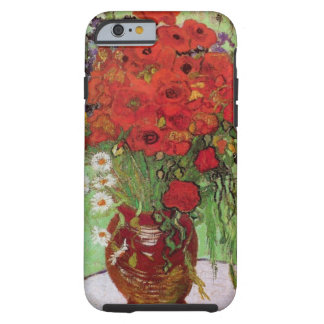 Van Gogh Red Poppies and Daisies, Fine Art Flowers Tough iPhone 6 Case