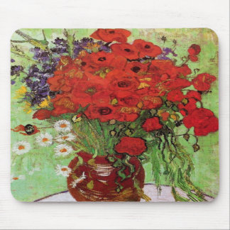 Van Gogh Red Poppies and Daisies Mouse Pad