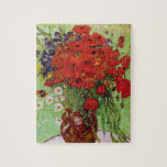 """Van Gogh Red Poppies and Daisies Puzzle<br><div class=""""desc"""">Van Gogh Red Poppies and Daises Puzzle. Oil painting on canvas from 1890. A colorful flower painting by Van Gogh, while not as famous as his celebrated vase of sunflowers, this work represents yet another charming entry in the artist's extensive catalog of floral still lifes. A great gift for fans...</div>"""