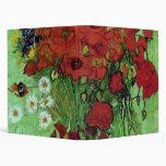 Van Gogh Red Poppies & Daisies (F280) Fine Art Binders
