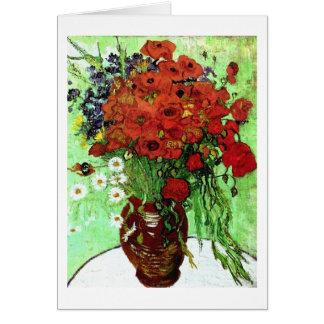 Van Gogh Red Poppies & Daisies (F280) Fine Art Greeting Card