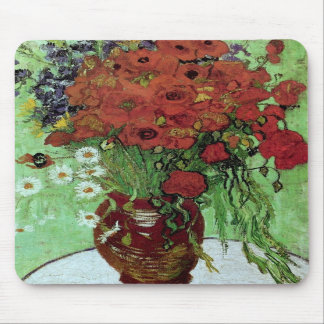 Van Gogh Red Poppies & Daisies (F280) Fine Art Mouse Pads