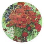 Van Gogh Red Poppies & Daisies (F280) Fine Art Plates