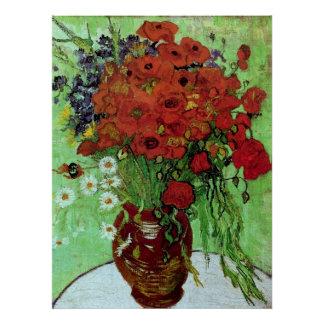 Van Gogh Red Poppies & Daisies (F280) Fine Art Poster