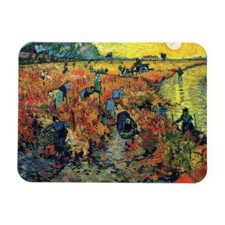 Van Gogh - Red Vineyard At Arles Rectangular Photo Magnet