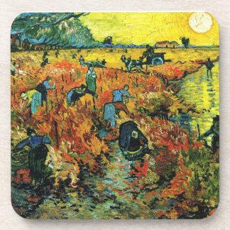 Van Gogh Red Vineyards at Arles Coasters