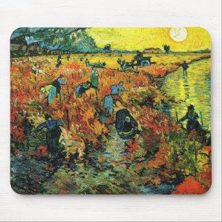 Van Gogh Red Vineyards at Arles Mouse Pad