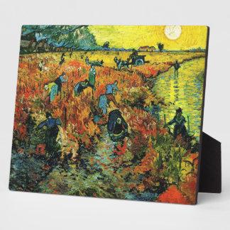 Van Gogh Red Vineyards at Arles Plaque