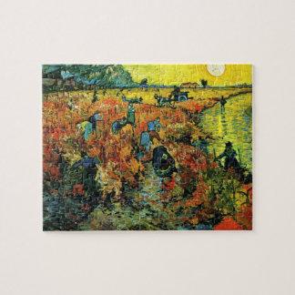 Van Gogh Red Vineyards at Arles Puzzle