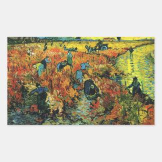 Van Gogh Red Vineyards at Arles Stickers