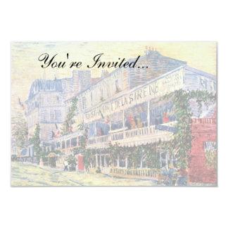 Van Gogh - Restaurant De La Sirene At Asnieres 3.5x5 Paper Invitation Card