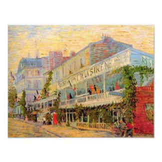 Van Gogh; Restaurant de la Sirene at Asnieres 4.25x5.5 Paper Invitation Card
