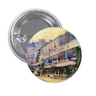 Van Gogh - Restaurant De La Sirene At Asnieres Pin Redondo 2,5 Cm