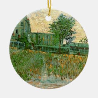 Van Gogh Restaurant la Sirene, Asnieres, Fine Art Ceramic Ornament